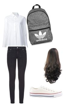 """School"" by liyah-wells on Polyvore featuring Misha Nonoo, Paige Denim, adidas and Converse"