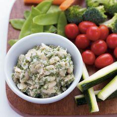 White Bean & Herb Hummus with Crudites - Health.com