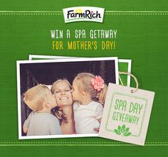 Moms, take it upon yourself this Mother's Day to give a gift you really want (okay, need). Enter our #RealLifeMOMent Giveaway for the chance to win a spa day for you AND a friend. Enter via our Facebook page (@FarmRichSnacks) or https://gleam.io/ZEiLF/reallifemoment #MothersDay