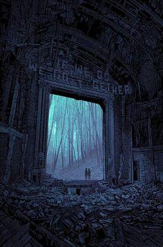 """""""if we go, we go together"""" BLUE · daniel danger · Online Store Powered by Storenvy Dark Fantasy Art, Dark Art, Arte Horror, Horror Art, We Go Together, Arte Obscura, Dark Places, Fantasy Landscape, Art Blog"""