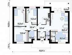 Проект дома Z98 - план-схема 1 Floor Plans, Country Homes, Blue Prints, Houses, Projects, Floor Plan Drawing, House Floor Plans