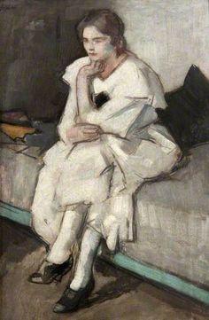 Girl in a White Dress, Samuel John Peploe; The works of Scottish Colourist S. Glasgow Museum, Post Impressionism, Art Uk, Art For Art Sake, Your Paintings, Great Artists, Female Art, Les Oeuvres, Art Drawings