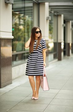simply striped.  Pink and navy!  Good combo