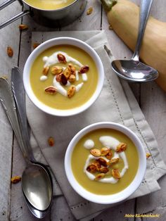 Kurbis-Bananen Suppe