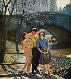 Early '60s fashion shoot in Central Park, NYC.