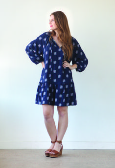 Roscoe Blouse and Dress by True Bias- View B-01