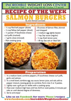 Today we have a delicious Salmon burger that will definitely be a treat to your tastebuds! #Phase1Approved #IdealProtein, make sure that you eat the other half of your I.P. Southwest Cheese Curl Puffs later that day. This recipe can be made with chicken and beef as well.