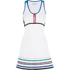 Monreal London Sunray stretch-jersey tennis dress (427,140 KRW) ❤ liked on Polyvore featuring dresses, white and stretch jersey