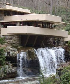 I think I could manage to live in the Frank Lloyd Wright house without even half trying.  Love the water.