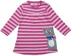 Organic Cotton Long Sleeve Kitty T-Shirt Dress £25.99