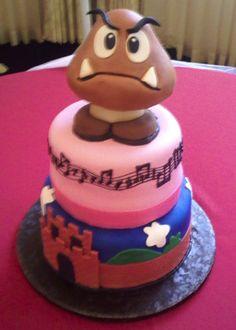 Kawaii cake nintendo goomba