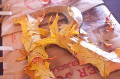 Fall leaf initial. A cute idea for fall decor