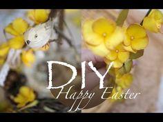 Пасхальные веточки для декора  из фоамирана /  DIY Tsvoric - YouTube