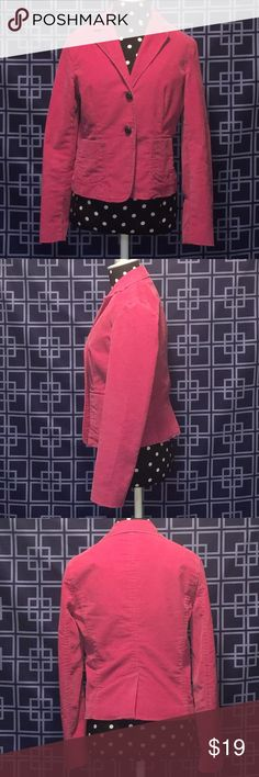 Gap Stretch Pink Blazer💕 Super Cute Pink Gap Blazer❣Worn Couple Times. Great Condition❣(Shell) 65% Cotton 33% Polyester 2% Spandex (Body Lining) 65% Polyester 35% Cotton (Sleeve Lining) 100% Polyester 💕 GAP Jackets & Coats Blazers