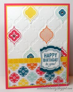 My First Mosaic Madness Card by StampinChristy - Cards and Paper Crafts at Splitcoaststampers