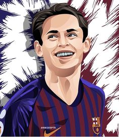 Soccer Drawing, Barcelona Football, Illustration, Profile Pics, Drawings, Movie Posters, Soccer, Messi Photos, Soccer Players