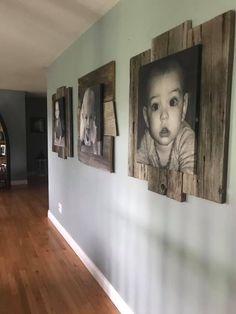 Diy Home Crafts, Diy Home Decor, Home Living Room, Living Room Decor, Rustic Decor, Farmhouse Decor, Picture Frame Decor, Hallway Decorating, Home Projects