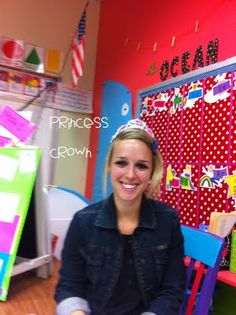 """When I'm wearing my princess crown no one can come up and ask me questions. It works wonders and my small group time is uninterrupted. I think I will be the queen of my classroom! Classroom Behavior Management, Classroom Organisation, Classroom Fun, Future Classroom, Behaviour Management, School Organization, Teacher Tools, Teacher Hacks, Teacher Stuff"