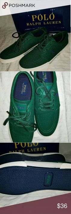 NEW Polo Ralph Lauren Size 10 Casual Shoes NEW with box,  box shows wear but the shoes are new. May have a tiny scuff here or there from storage.  Size 10 Polo by Ralph Lauren Shoes Sneakers