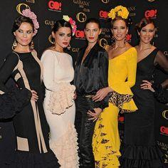 Photocall de la Pasarela de #modaflamenca Gabana 1800 con @laura sanchez Elisabeth Reyes, María José Suárez , Estefanía Luyk y Marisa Jara - (@mugiu72) -