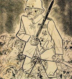 George Grosz drawing- Weimar republic age