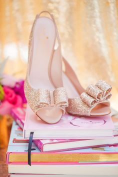 What is a Kate Spade themed wedding without her most gorgeous shoes?