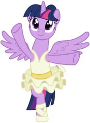 Size: 2200x3000 | Tagged: alicorn, alternate hairstyle, a royal problem, artist:cheezedoodle96, balancing, ballerina, clothes, cute, female, mare, pony, safe, simple background, skirt, solo, spoiler:s07e10, spread wings, svg, .svg available, transparent background, tutu, twiabetes, twilarina, twilight sparkle, twilight sparkle (alicorn), vector, wings
