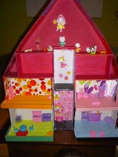how to make a house out of a shoebox