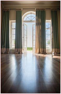 Brilliant French Door Window Treatments - Ideas For Covering French Door Windows French Door Windows, French Door Curtains, High Windows, Blinds For Windows, Drapes Curtains, Windows And Doors, Window Blinds, Window Panels, Curtain Panels