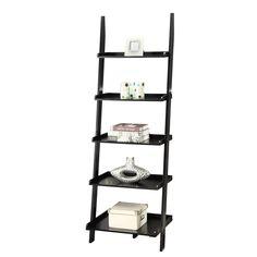 Gilliard Ladder Bookcase & Reviews   Birch Lane Ladder Bookshelf, 5 Shelf Bookcase, Wood Ladder, Bookshelves, Contemporary Bookcase, Furniture Hardware, Room Themes, All Modern, American