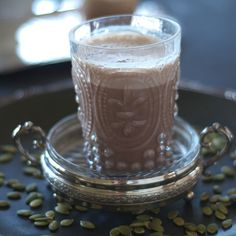 Spiced (or Chocolate) Pumpkin Seed Milk http://www.prevention.com/food/7-healthy-pumpkin-seed-recipes/slide/6