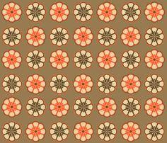 Mod Pinwheel Flowers fabric on Spoonflower