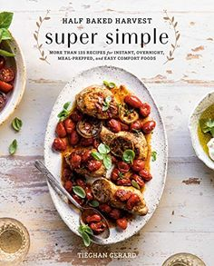 """Easy recipes for buffalo cauliflower bites sage-butter chicken pot pie from """"Half Baked Harvest: Super Simple"""" cookbook author Tieghan Gerard for those lazy weeknights. Everyday Dishes, Everyday Food, Super Simple, Food Network, Instant Pot, Simple Cookbook, Recipe Fo, Best Cookbooks, Cauliflower Bites"""
