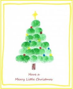 finger painting christmas ideas - Google Search
