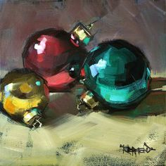 cathleen rehfeld • Daily Painting: Holiday Fun - sold