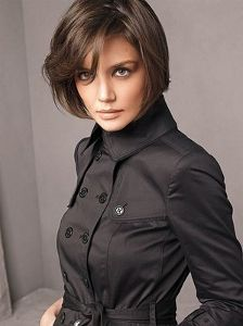 I adore Katie Holmes - her short hair totally inspired me to cut mine short, her style is timeless, and her attention to social manners and grace is admirable.