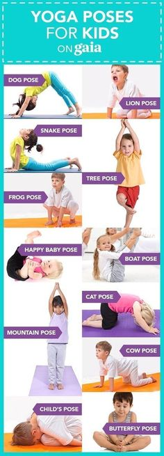 Health yoga poses Yoga For Preschool Age Yoga postures emulate animal shapes and elements in nature. Help kids connect with nature, with others and with themselves with these eight yoga poses for kids. Poses Yoga Enfants, Kids Yoga Poses, Kid Poses, Yoga For Kids, Exercise For Kids, Children Poses, Young Children, Gym For Kids, Stretches For Kids