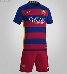 357985ed65409 Rumores sobre a nova camisa do Barcelona ficam mais fortes. Uniformes  FutebolCamisas ...