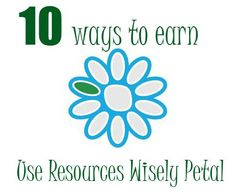 "How to earn the ""Use Resources Wisely"" Daisy petal. The green petal  may be one of the most creative petals your Daisy Girl Scout troop will earn. But sometimes, because it's so open to interpretation, it's easy to wonder what ..."