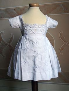 cotton dress for a two or three year old girl, 1874