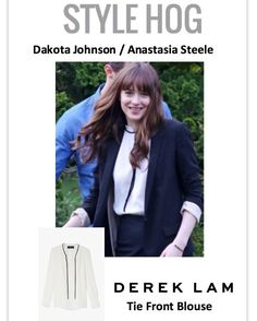 Dakota Johnson in Derek Lam on the set of Fifty Shades Darker - win the outfit by following style_hog on twitter and instagram and sharing them your favorite FSOG outfit
