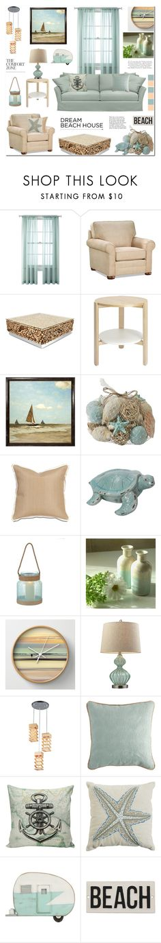 """""""Dream Beach House"""" by anyasdesigns ❤ liked on Polyvore featuring interior, interiors, interior design, home, home decor, interior decorating, Frontgate, Dot & Bo, The Natural Light and Pier 1 Imports"""