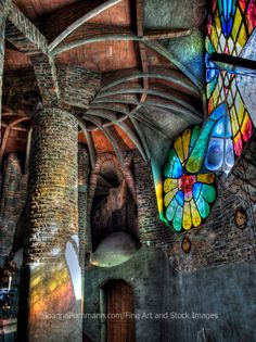 Antoni Gaudi Art Print featuring the photograph Magic Light In Magic Place. by Joanna Pechmann Amazing Architecture, Art And Architecture, Architecture Details, Barcelona Architecture, Leaded Glass, Stained Glass Art, Antonio Gaudi, Outdoor Art, Animal Design