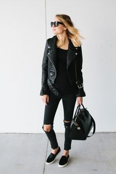 all black outfit with sneakers