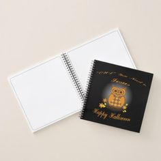 Halloween Owl Notebook - Halloween happyhalloween festival party holiday