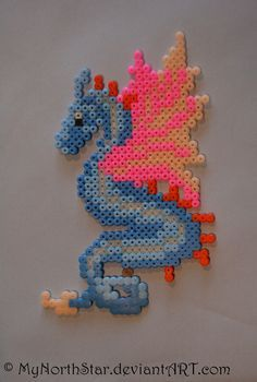little dragon perler beads by MyNorthStaron deviantart