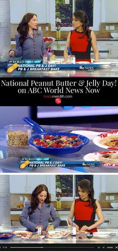 Tune In! National Peanut Butter & Jelly Day on ABC World News Now. Check out my four favorite recipes! MarlaMeridith.com ( @marlameridith )