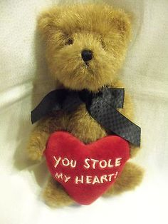 "Boyds Bears Plush 8"" Jointed Thinkin Of Ya Series LESLIE You Stole My Heart"
