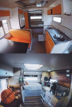 Caravan renovation before and after