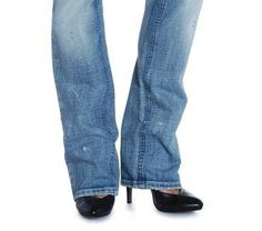 How to shorten bootcut jeans